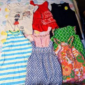 Lot of girls 5 5T shirt dress